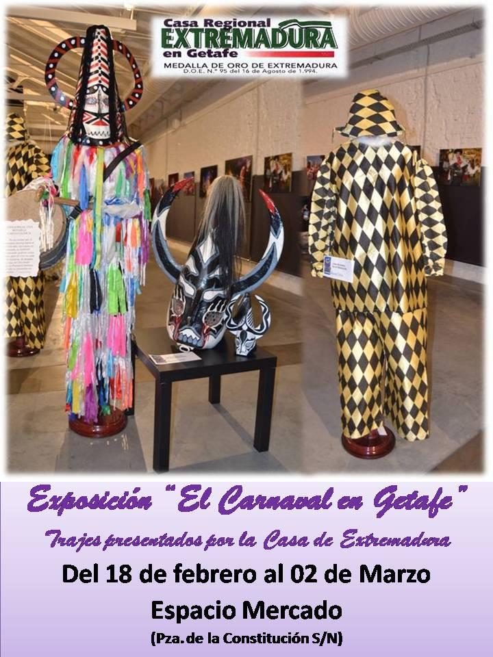Cartel Exposición Carnaval en Getafe
